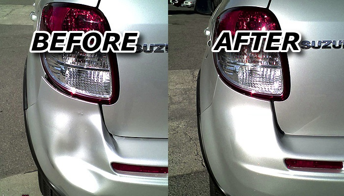 austin bumper repair before and after